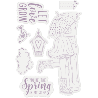 Spring is in the air clear stamp set - Stämpelset med kärlekstema från Crafter's Companion A6