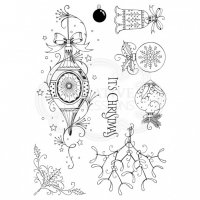 Baubles (christmas ornaments) clear stamp set - Stämpelset med julkulor från Creative Expressions ca 15*20 cm