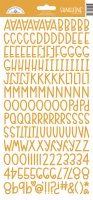 Tangerine orange alphabet stickers - Orange bokstavsstickers från Doodlebug designs