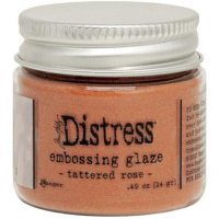 Tattered rose distress embossing glaze - Glansigt embossingpulver från Tim Holtz / Ranger ink
