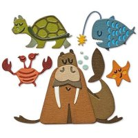 Under the sea animals #2 colorize die set - Stansmallar med havstema från Tim Holtz Sizzix