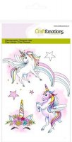 Unicorn clear stamp set - Stämpelset med enhörningar från Craft Emotions A6
