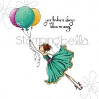 Uptown girl Bentley gets blown away rubber stamp - Motivstämpel från Stamping Bella