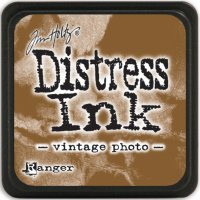 vintage photo, distress ink, tim holtz