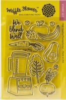We blend clear stamp set (food blender) 4*6 - Stämpelset om att mixa ihop soppor m m i en mixer - från Waffle Flower 10*15 cm