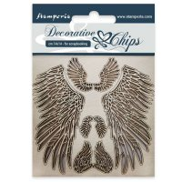 Wing chipboard decorations - Vingar ur tunn chipboard från Scrapiniec