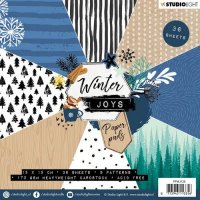 Winter joys paper pack 128 - Mönsterpapper från Studio Light
