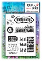 Winter wonderland stamp set - Stämpelset med jultema från Rubber dance stamps 8*13 cm