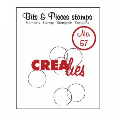 Grunge circles Bits & Pieces Stamps no.57 - Mönsterstämpel med cirklar från CreaLies