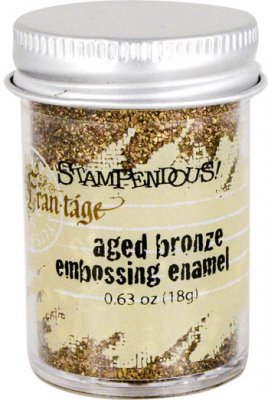 aged, bronze, embossing, fran-tage, pulver, stampendous