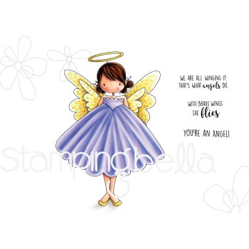 tiny townie annie the angel, stamp, stämpel, stamping bella, vingar