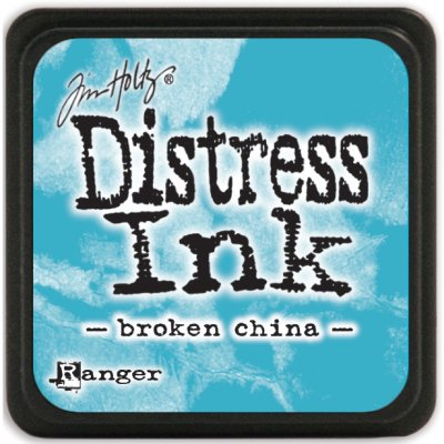 broken china, distress ink, tim holtz