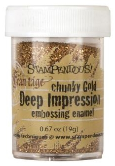 chunky, gold, embossing, pulver, powder, stampendous, fran-tage
