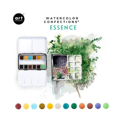 Essence Prima Confections Watercolor Pans 12/Pkg - Akvarellfärger från Art Philosophy / Prima Marketing