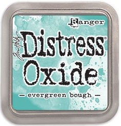 Evergreen bough distress oxide ink - Grön hybriddyna med dye- och pigmentbläck från Tim Holtz / Ranger ink