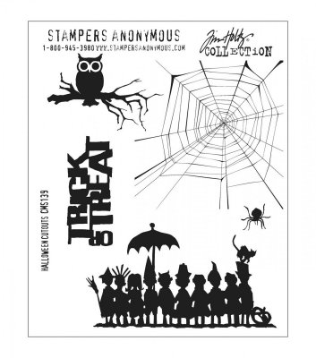 halloween, cutouts, stämplar, stamps, owl, spider web, cob web, spindelnät, uggla, stamper's anonymous, trick or treat
