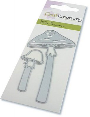 Long stemmed mushrooms die set - Stansmallsset med svampar från Craft Emotions 5*10 cm