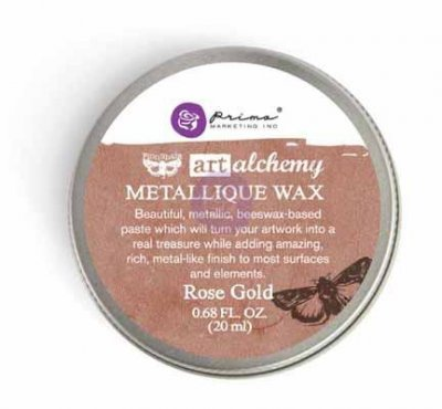 Rose gold Art alchemy metallic wax - Rosenguldfärgat metallvax med bivax som grund från Finnabair / Prima marketing inc