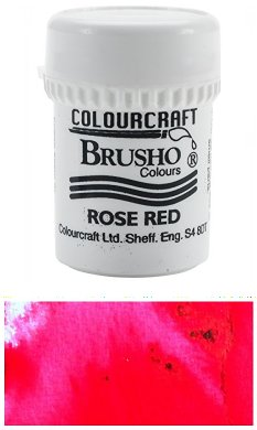 rose, red, brusho,