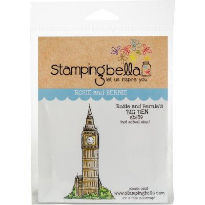 rosie and bernies big ben, london, stämpel, stamp, stamping bella