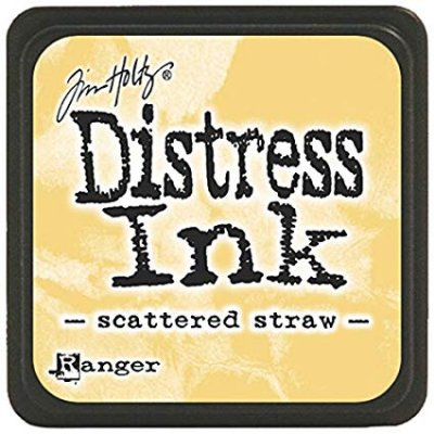 scattered straw, distress ink, tim holtz
