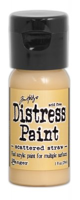 scattered straw, distress paint, tim holtz