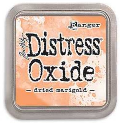 Dried marigold, distress, oxide
