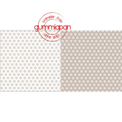 Light almond brown snowflake pattern paper - Mönsterpapper med ljus mandel-bruna snöflingor från Gummiapan 14,5*14,5 cm