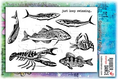 Something fishy stamp set - Fiskstämplar från Rubber Dance Stamps