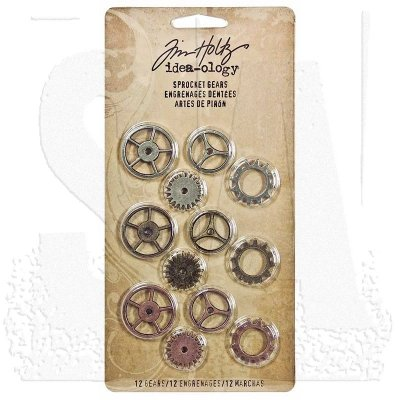 sprocket, gear, kugghjul, metalldekoration, tim holtz.