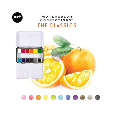 The classics Prima Confections Watercolor Pans 12/Pkg - Akvarellfärger från Art Philosophy / Prima Marketing