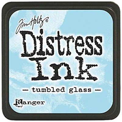 tumbled glass, distress ink, tim holtz