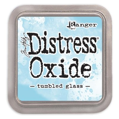 tumbled glass, distress oxide ink, tim holtz